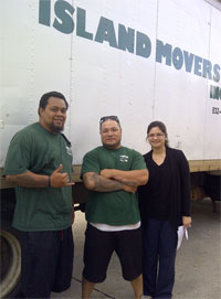 Workers from our moving company in Hawaii